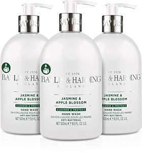 Baylis & Harding Jasmine and Apple Blossom Anti-Bacterial Hand Wash, 500 ml, Pack of 3 £4.50 + £4.49 delivery Non Prime @ Amazon