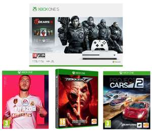 Xbox One S with Gears 5,  2 copies of FIFA 20, 2 copies of Tekken 7 & 2 copies of Project Cars 2 Bundle £202 @ Currys PC World