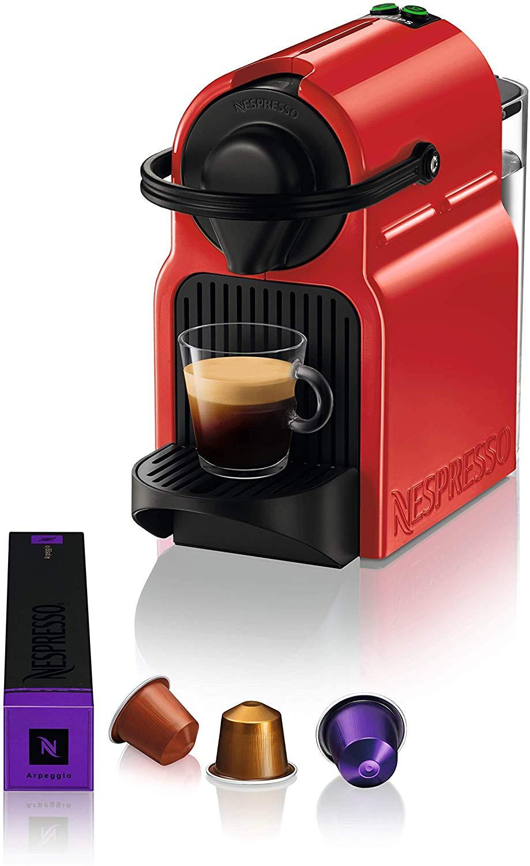Nespresso Inissia Coffee Capsule Machine, Ruby Red by Krups - £59.99 @ Amazon