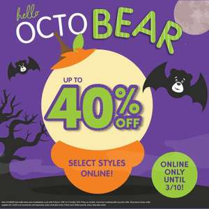 Up to 40% off a build a bear - online only