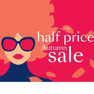 FURTHER REDUCTIONS at Debenhams up to Half Price Autumn Sale. Some items have even greater reductions.