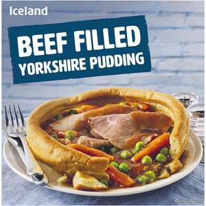 Giant Yorkshire Pudding with Roast Beef meal & Veg £1.00 @ Iceland