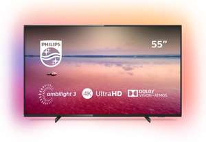 Philips 55 Inch 55PUS6704 Smart 4K HDR LED TV with free Philips HTL1510B/05 140W wireless soundbar - £549 @ Argos