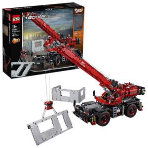 LEGO 42082 Technic Rough Terrain Crane 2 in 1 Mobile Pile Driver Heavy Duty Truck with Power Functions Motor £142.50 @ Amazon