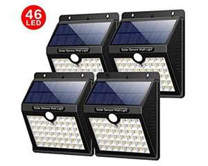 4 Pack Solar LED outdoor motion security lights - £17.66 (Prime) £22.15 (Non Prime) @ Sold by XINLANG-EU and Fulfilled by Amazon.