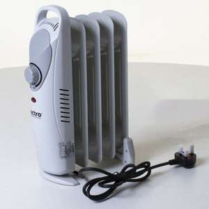 Lectro 5 fin Mini oil filled Radiator 600w £6.90 @ Homebase kidderminster