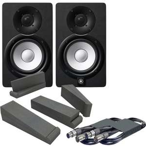 Yamaha HS5 Black/White Active Studio Monitors, Isolation Pads & Leads Bundle £255 (delivered) @ thediscdjstore.com