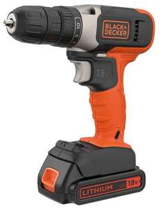 Black+Decker 18V Lithium-ion Drill Driver with a 1.5Ah Battery & 400mA Charger for £29.99 delivered @ Amazon
