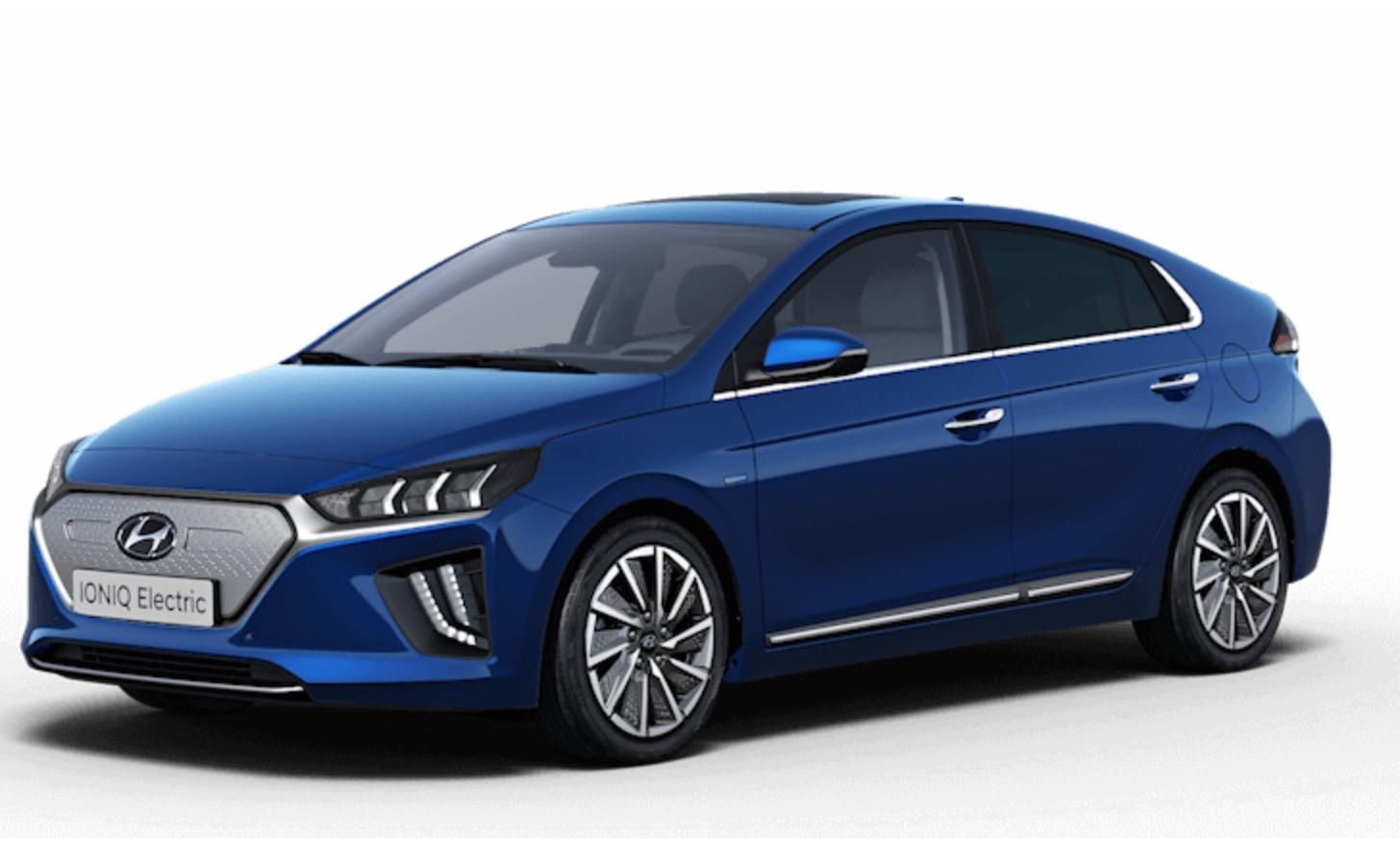 Hyundai Ioniq Electric 100kW Premium 38kWh  - 24m lease - 8k miles p/a - £1134 initial + £189pm + £150 admin = £5631 @ Leasing Options