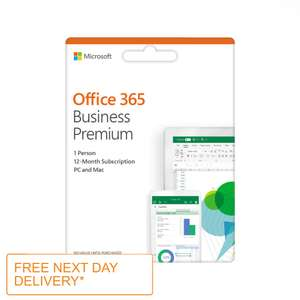 Office 365 Business Premium 1 Year Sub - 1 Person  5 Phones / Tablets / PC / Mac £79.99 With Free Next Day Delivery @ Ebuyer