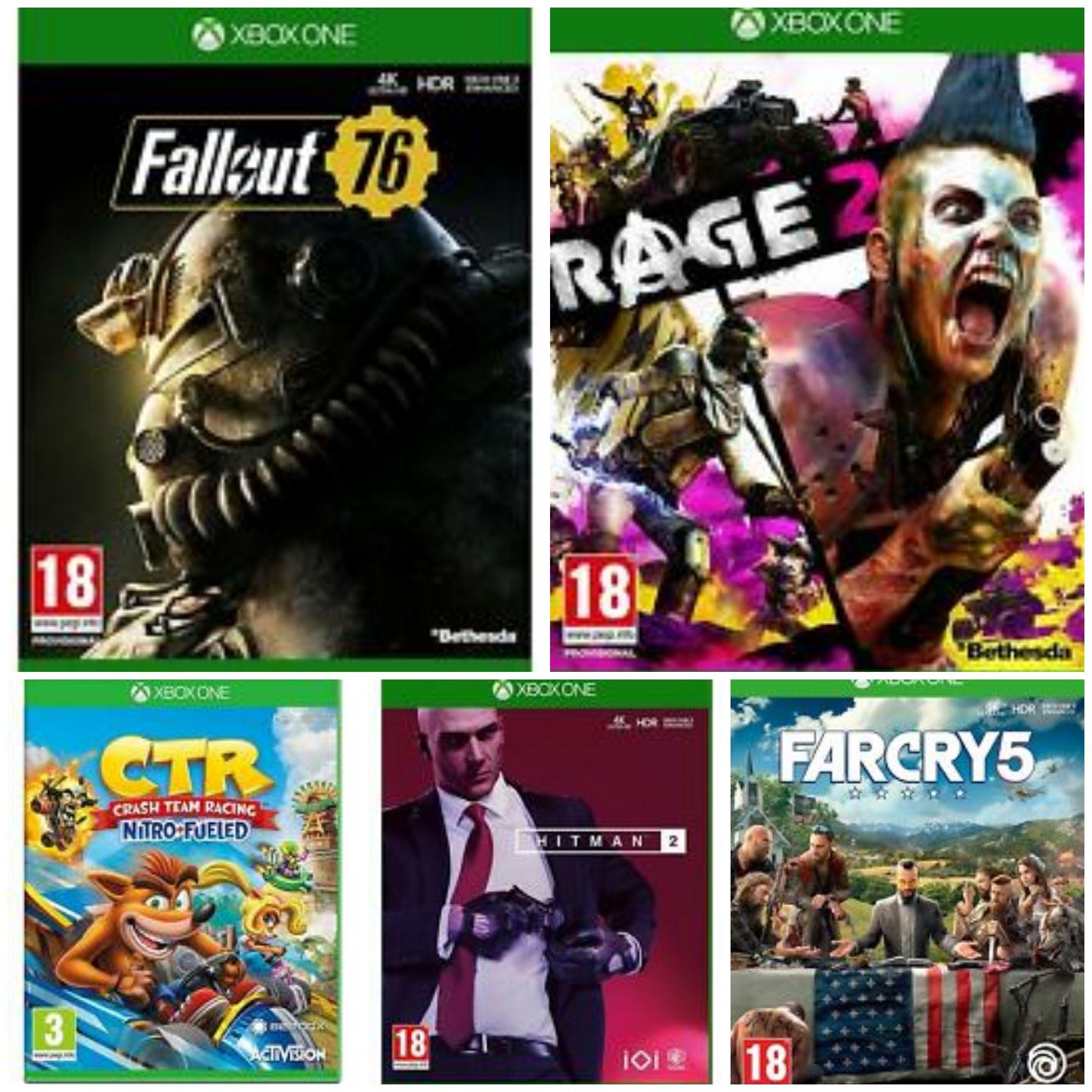 [Xbox One] Fallout 76 £6.99 / Far Cry 5 £8.99 / Hitman 2 £13.99 / Crash Team Racing £15.99 / Rage 2 £16.99 (ex rental) @ boomerangrentals