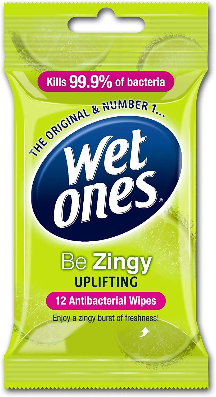 Wet Ones Be Zingy Antibacterial Wipes, 6x12pk for £1.20 @ Amazon Prime (£5.69 non-Prime)