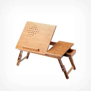 Bamboo Tablet & Laptop Table £12.99 delivered + 2 Year Warranty @ VonHaus