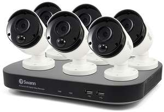 Swann DVR-4980 8 Channel 5 Megapixel - 6 Camera True Detect CCTV Kit £349.99 at Costco