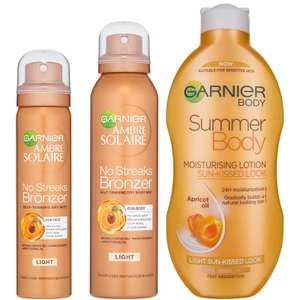 Garnier Ambre Solaire Summer Body and No Streaks Bronzer Self Tan Kit £13.99 @ Look Fantastic