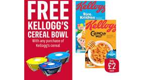 Free Cereal Bowl With Spoons (Usually £3) When You Buy a Selection of Cereal from £1 - Iceland: Instore and Online!