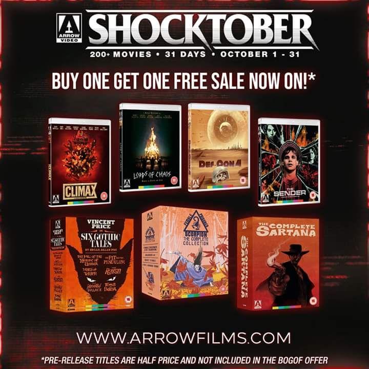 Arrow Films Shocktober BOGOF Offer