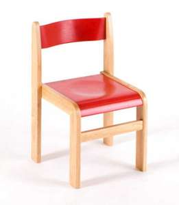 Tuf Class Wooden Chair Red Size 4 (Pack Of 2) £13.64 (+£2.75 delivery) @ Hawkins Bazaar