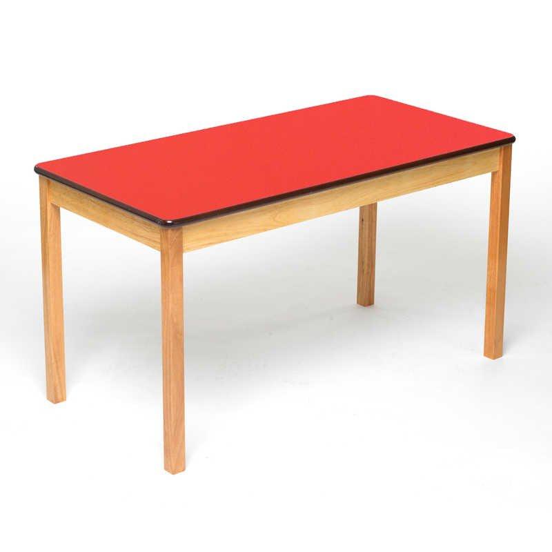 Tuf Class Rectangular Table Red Size 3 - £21.55 / £24.30 delivered @ Hawkins Bazaar
