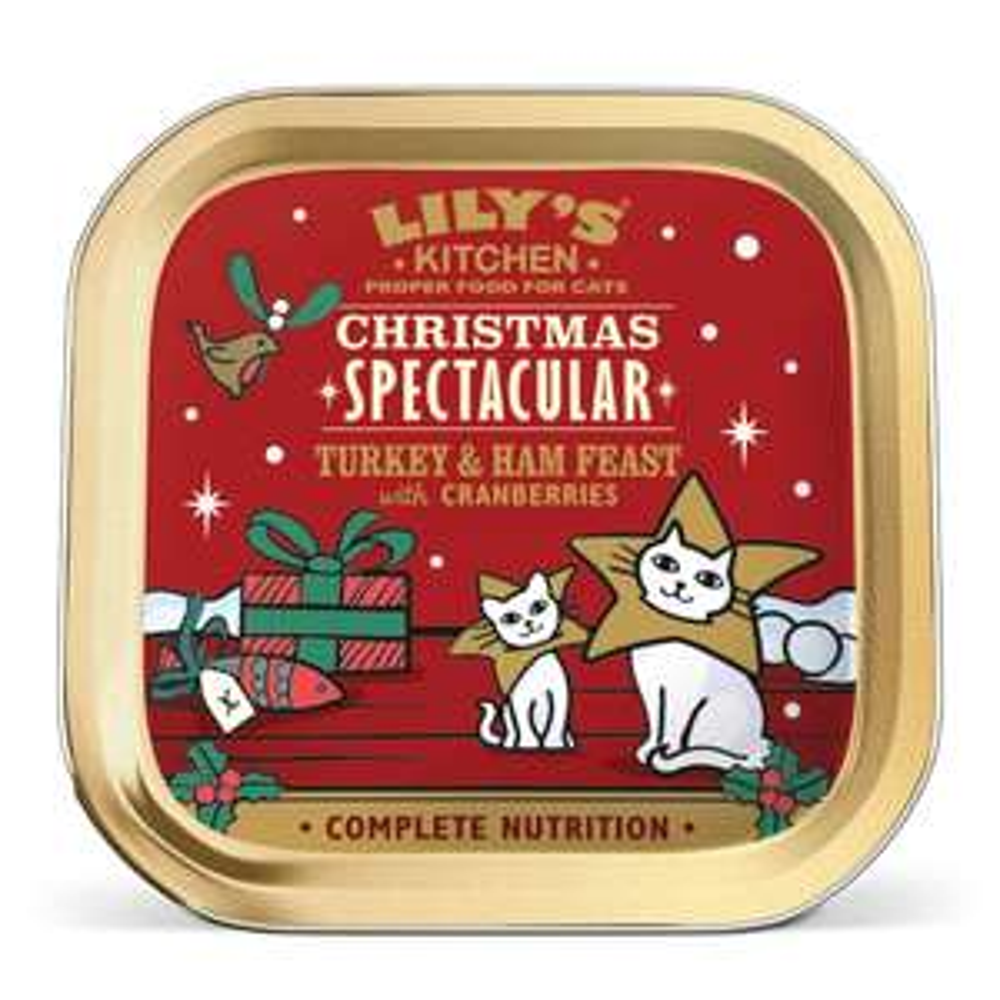 Lily's Kitchen Christmas Turkey Feast 2018 Cat Wet Food Tray (19 x 85g) £3.99 @ Amazon (Add On)