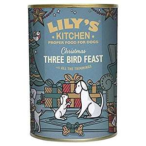 Lily's Kitchen 6 x 400 g dog food  Christmas Spectacular Three Bird Feast with All The Trimmings, £5.99 Amazon add on