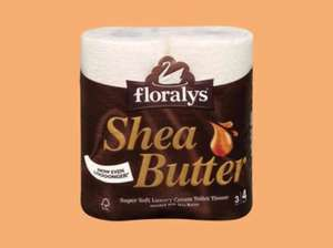 Lidl Floralys super Soft Luxury Shea Butter Toilet Roll 4 x 170 sheets 99p. Super Weekend deal