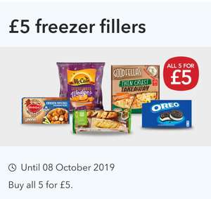 5 for £5 Freezer Fillers at Co-op discount offer