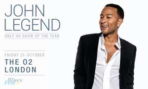 John Legend Blues Fest ticket at O2 was £95 now £26.42 with code £33.03 without code @ Groupon
