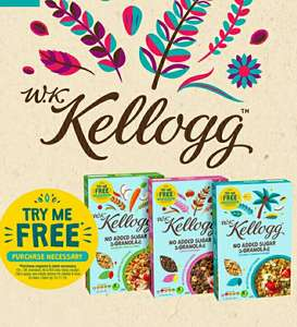 Claim up to £4 back on WK Kellogg Granola (best price at Sainsbury's for £2)