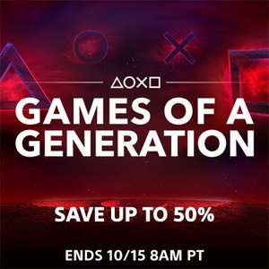 Games of a Generation Sale at PlayStation PSN Store US