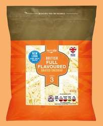 Valley Spire Grated British Cheddar 450g pack for £1.49 @ Lidl