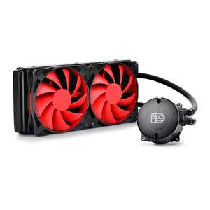 DeepCool MAELSTROM 240 AIO Liquid CPU Cooler Black with Red Fans £43.98 delivered at Scan