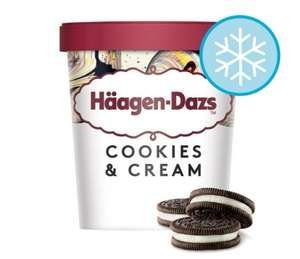Haagen-Dazs Cookies & Cream Ice Cream 460Ml - £2.50 @ Tesco
