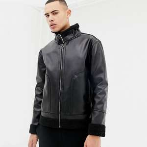 D-Struct faux leather jacket - £24.75 + £3 Delivery @ ASOS