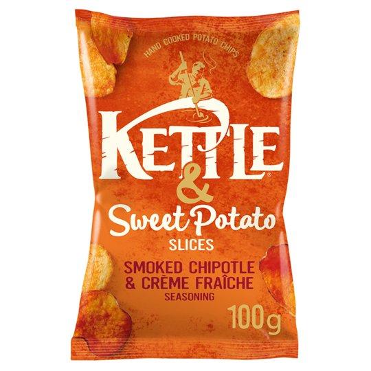 Kettle crisps 100g, sweet potato or apple - 69p instore @ homebargains Bidston / wirral