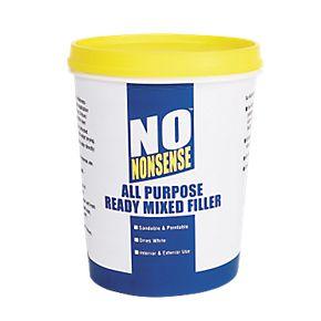 No Nonsense All-Purpose Ready-Mixed Filler White 1kg £1.29 @ Screwfix + free C&C
