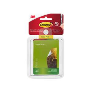 Command Adhesive Poster Strips Pack of 48 for £4.99 with free click & collect @ Rymans