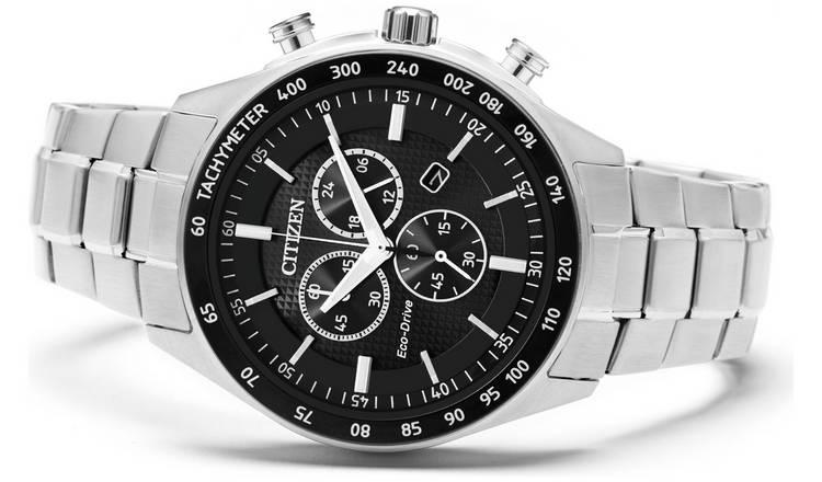 Citizen Men's Eco-Drive Black Chronograph Watch, £124.99 at Argos
