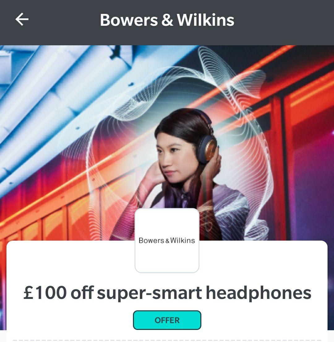 £100 off super smart Bowers and Wilkins headphones - £229 @ Wuntu