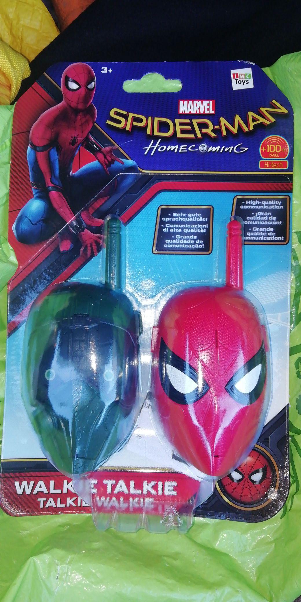 Spiderman walkie talkie home bargains £3.99