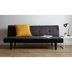 Click-Clack 2-Seater Sofa Bed - Charcoal for £70.20 @ George (p&p £5.95)