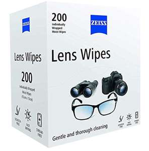 Zeiss Pre-Moistened Lens Wipes - Pack Of 200 - £9.49 (Prime) £14.98 (Non Prime) @ Amazon