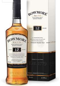 Bowmore 12 Year Old Islay Single Malt Scotch Whisky 70cl - £24 @ Sainsbury's