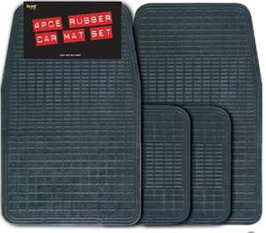 Streetwize 4 piece Rubber Mat Set - Black - £4.45 delivered with code @ Carparts4less