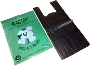 Bag Em Biodegradable Poo Bags (Pack of 50) now £1 (Prime) + £4.49 (non Prime) at Amazon