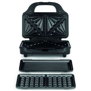 Salter 3-in-1 Deep Fill Sandwich, Panini and Waffle Maker  £17.99 with code - Free Click & Collect @ Robert Dyas