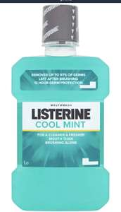 Listerine Cool Mint Mouthwash, 1L £1.75 @ Amazon pantry  (£3.99 Delivery charge)