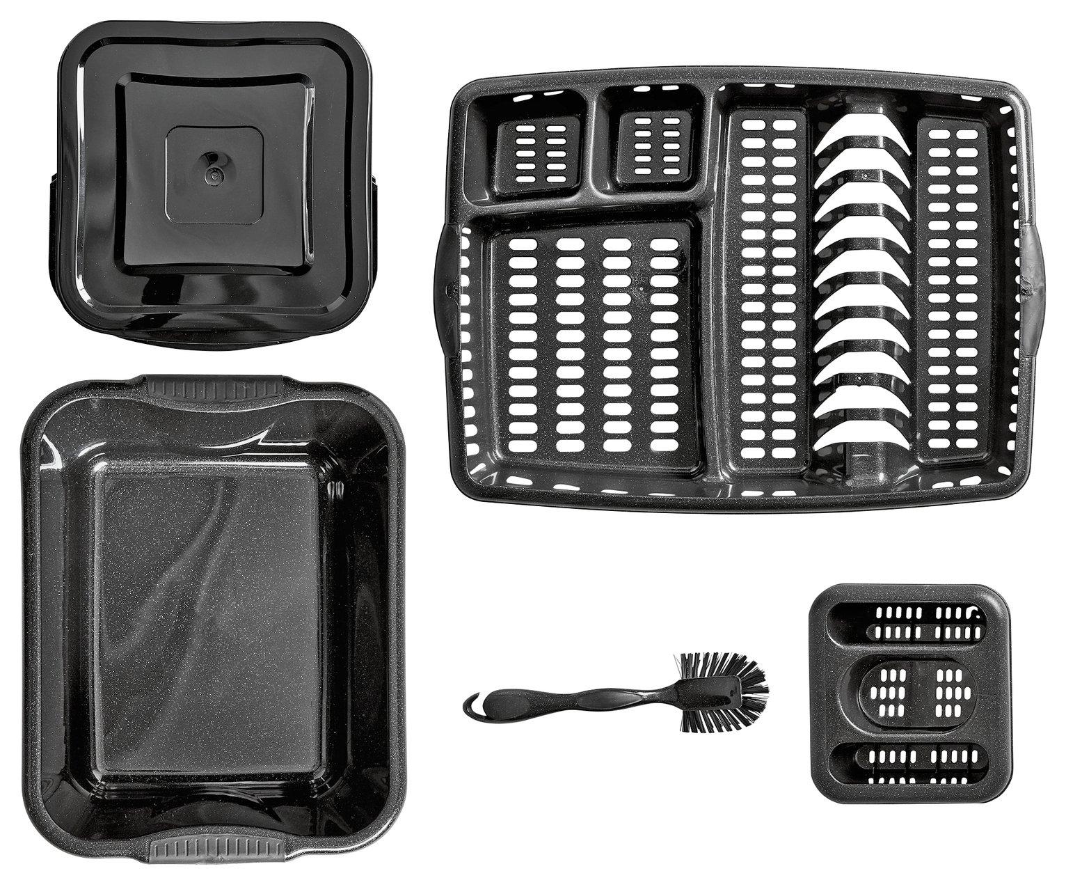 Argos Home Soft Grips 5 Piece Kitchen Set Black Glitter - £11.25 - Free Click & Collect @ Argos
