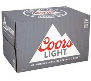 Coors Light bottles 24x330ml £12 @ Asda in-store (found in Southampton)