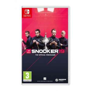 Snooker 19 The Official Videogame Nintendo Switch £19.99 Simplygames